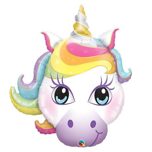 Ballon alu tête de licorne