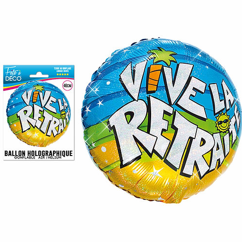 Ballon Alu Holographique - Retraite