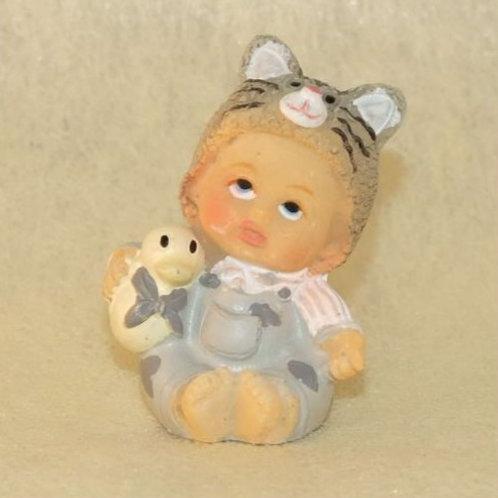 Bébé Bonnet Gris en céramique