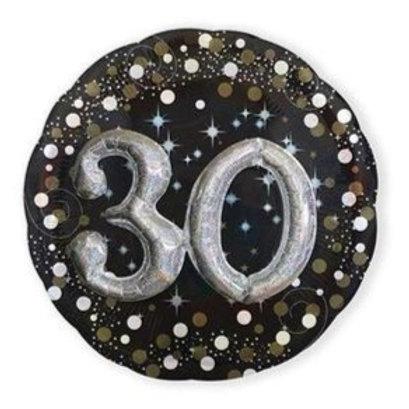 Ballon alu 30 ans 3D argenté