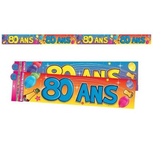Bannière Multicolore - 80 ans