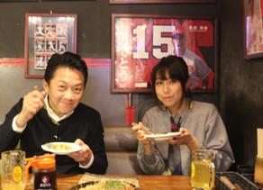 広島テレビ「広島お好み焼図鑑4つの物語」にてBig-Pigを紹介していただき風見しんごさんと緒方かな子さんがご来店されました。