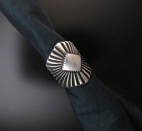 Sterling Silver Sunburst Ring by Albert Jake