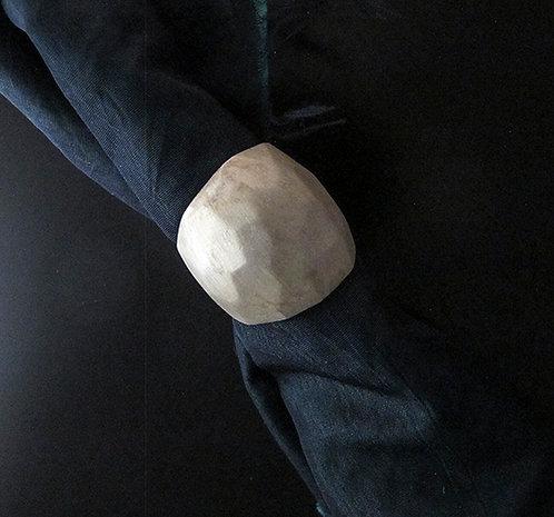 Sterling Silver Matte Finish Hammered Ring by Dahlia Kramer