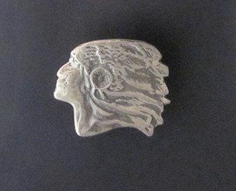 Sterling Silver Indian Head Belt Buckle