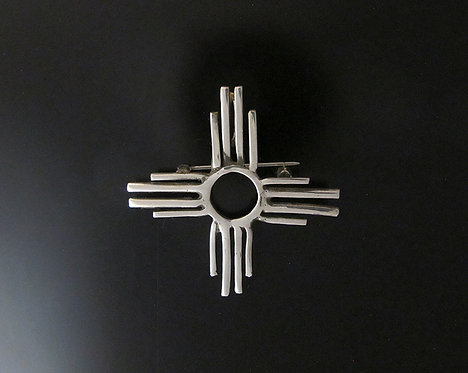 Sterling Silver Zia Pin