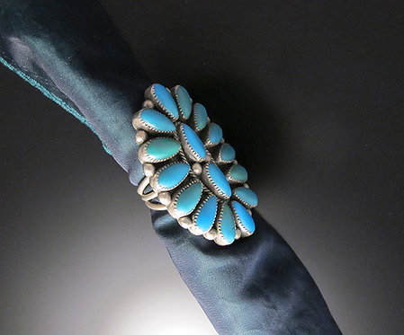 Zuni Silver and Turquoise Ring