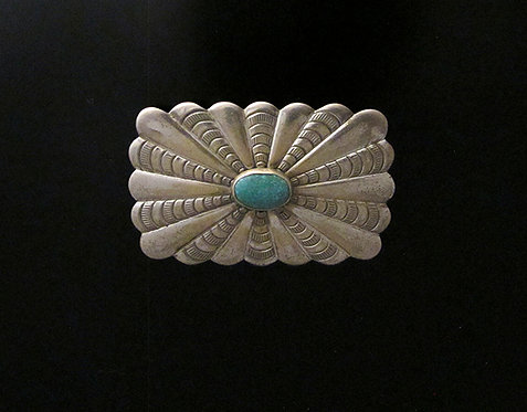 Navajo Sterling Silver & Turquoise Pin