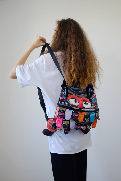 Red owl backpack