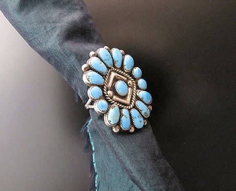 Zuni Sterling Silver & Turquoise Ring