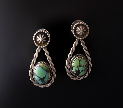 Sterling Silver and Turquoise Earrings
