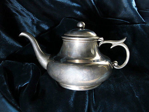 Vintage Silver Mexican Small Teapot by Hector Aguilar