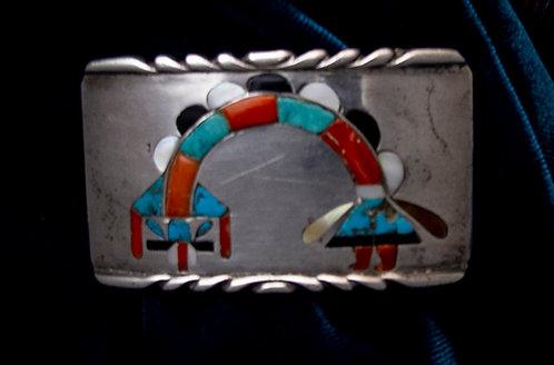 Sterling Silver Rainbow Man Belt Buckle