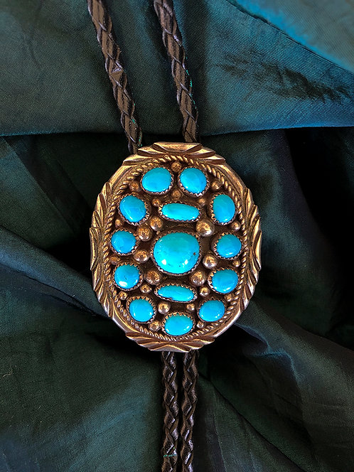 Sterling Silver & Turquoise Bolo