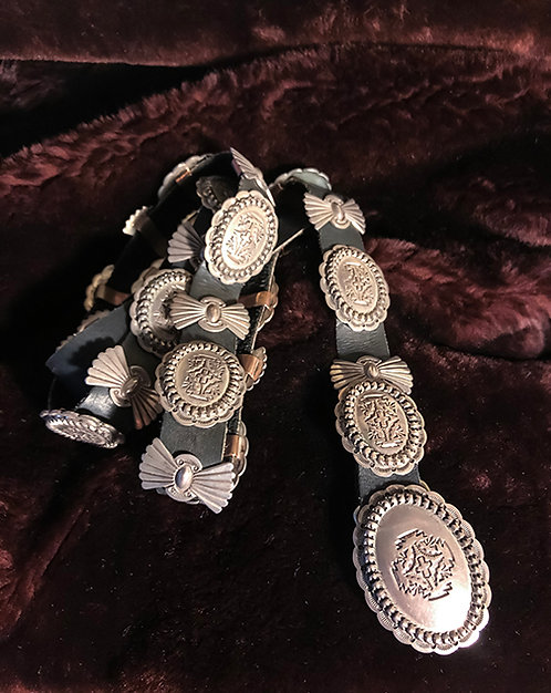 Navajo Orville White Sterling Silver Concho Belt