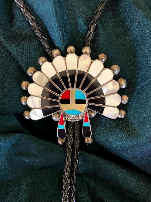 Vintage Zuni Inlay Bolo by Delger Cellicion