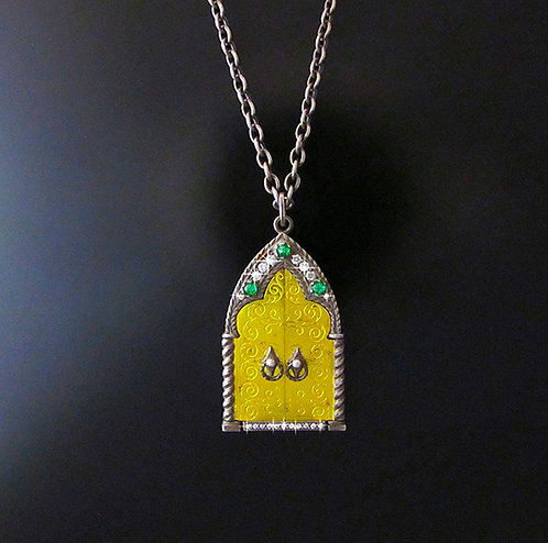 "Arman Sarkisyan 22 Karat & Sterling Silver ""Shrine"" Locket"