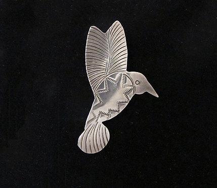 Sterling Silver Hummingbird Pin