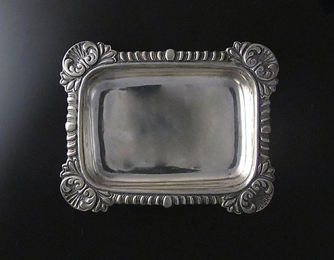 Small Heavy Mexican Silver Tray