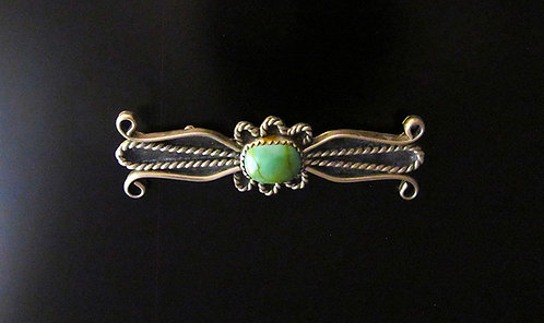 Navajo Sterling Silver & Turquoise Bar Pin