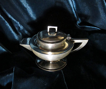 Vintage Mexican Silver Small Teapot by Hector  Aguilar