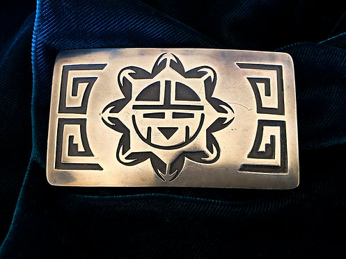 Sterling Silver Hopi Belt Buckle