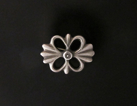 Native American Sandcast Sterling Silver Pin