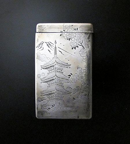 Vintage Silver Japanese Cigarette Case