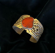 Tony Mitchell Silver & Coral Bracelet