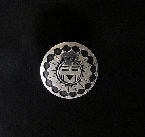 Native American Sterling Silver Pin Pendant