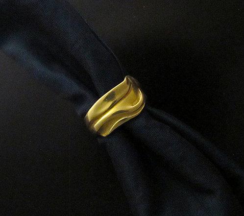 Norah Pierson 18Karat Yellow Gold Wave Ring