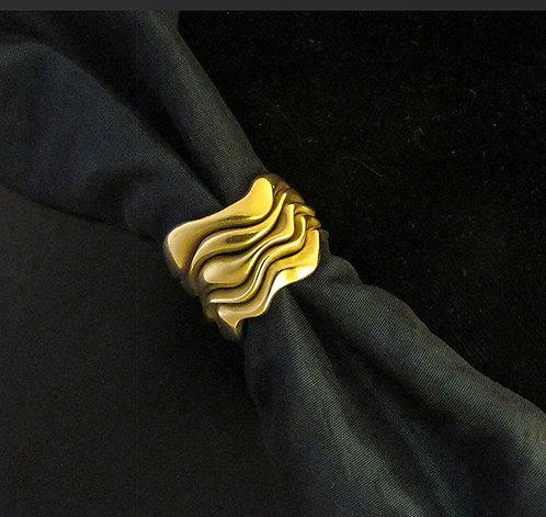Norah Pierson 18 Karat Yellow Gold Wave Ring