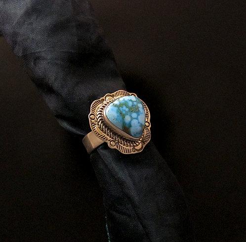 Joe Piaso Jr. Navajo Sterling Silver & Turquoise  Ring