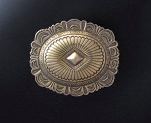Sterling Silver Buckle With Center Diamond Shape