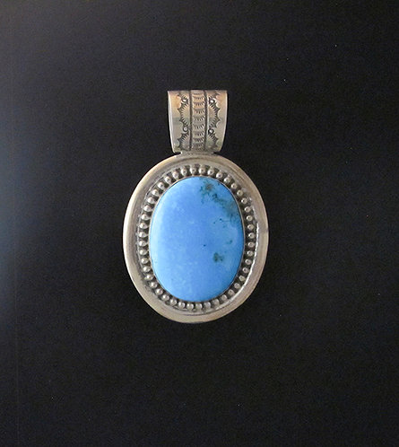 Sterling Silver & Turquoise Pendant by Tony Aguilar, Jr.