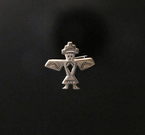 Sterling Silver Native American Sand Cast Pin