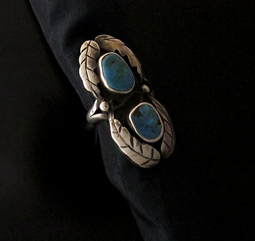 Sterling Silver & Turquoise Vintage Navajo Ring
