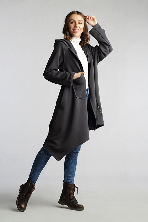 Casual asymmetrical jacket