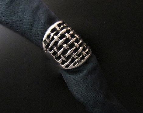 Sterling Silver Basket Weave Ring