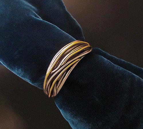 Gusterman's Gold & Silver String Cuff Bracelet