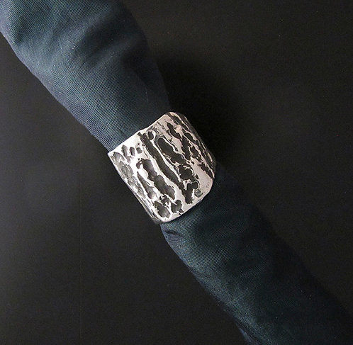 Textured Gusterman's Sterling Silver Ring