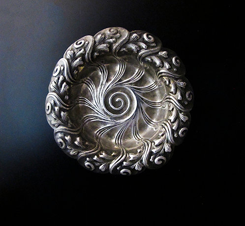 Vintage Silver Small Round Tray