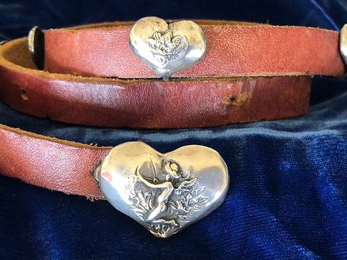 Sterling Silver Heart Concho Belt