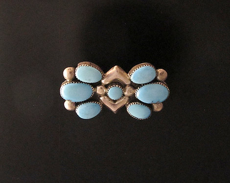 Silver and Turquoise Pin Pendant