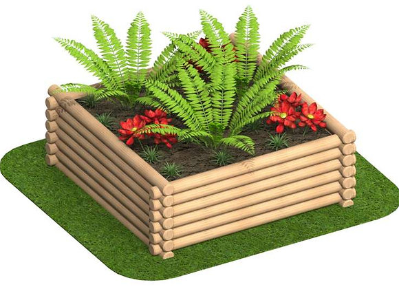 Round Log Planter