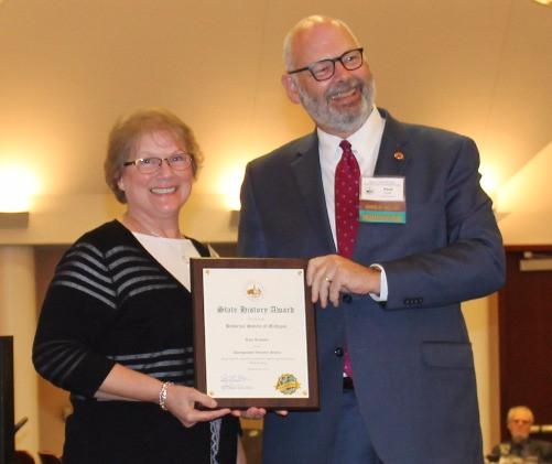 Toni Rumsey Receiving Award