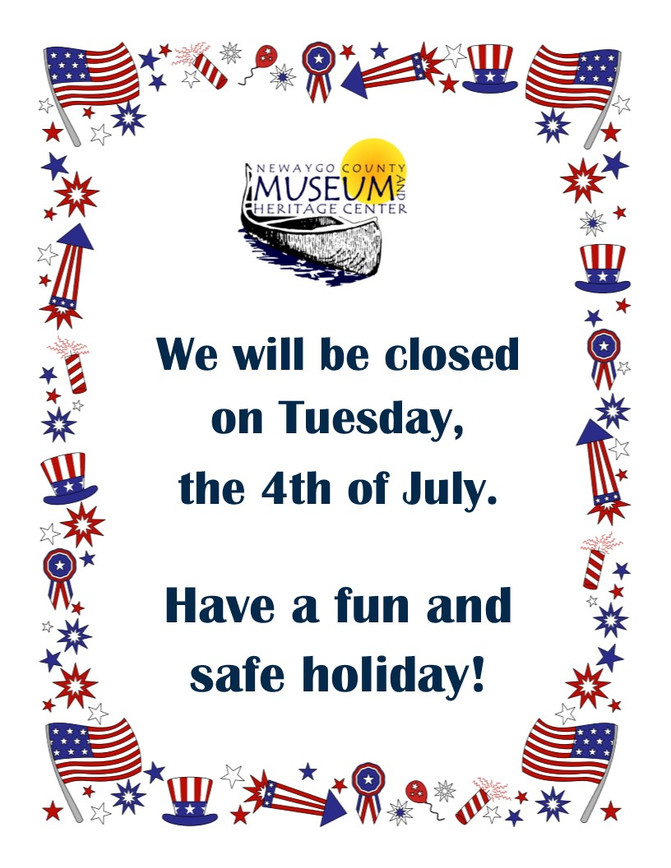 Closed on the 4th of July!