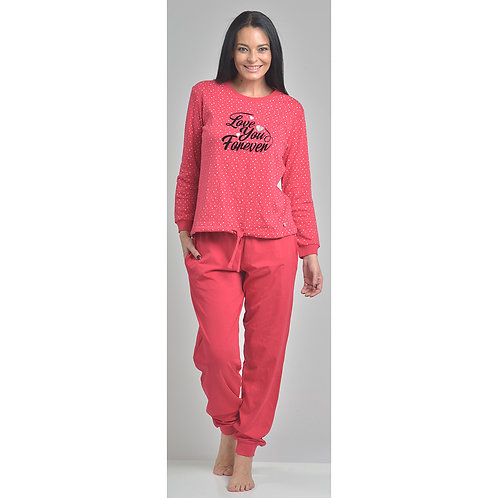 Art. 524 Pijama Gamuza. Diseño Lunares