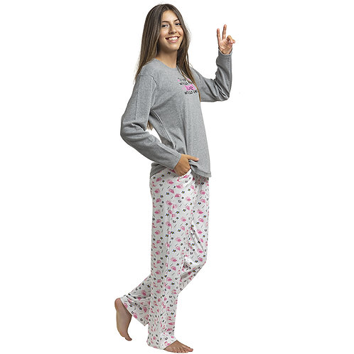 Art. 456 Pijama Gamuza estampado . Teens