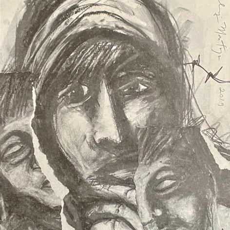 """Families without a Future"" Malaquías Montoya El Nopal Press Lithograph 11""x 15"" 2019"